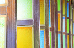 Colorful stained glass windows Royalty Free Stock Photos