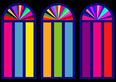 Colorful stained-glass windows  Royalty Free Stock Image
