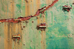 Colorful stained rust metal texture background. Royalty Free Stock Photo