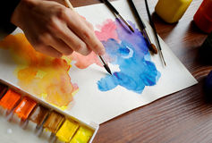 Colorful stains Stock Image