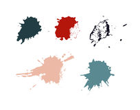 Colorful Stains, Blots, Splashes Set. Colorful Retro Vector Stains, Blots, Splashes Set Stock Images