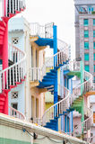 Colorful Staircases Royalty Free Stock Image