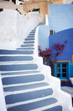 Colorful stairs. Taken on island santorini, Greece Royalty Free Stock Photos