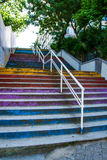 Colorful stairs in Moda, Istanbul Royalty Free Stock Photos