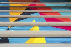Colorful stairs in Thailand Royalty Free Stock Photo