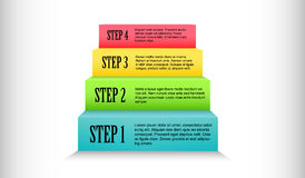 Colorful stairs process step by step Stock Images