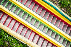 Colorful stairs in Wat tham khao noi buddhist temple, Stock Photo