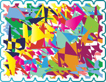 Colorful stamp. Been created as vector Royalty Free Stock Photo