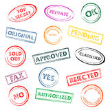 Colorful stamps Stock Photo