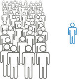 Colorful standout outside crowd symbol people Stock Photos