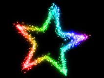 Colorful star Stock Photo