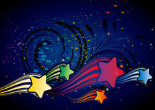 Colorful star. Illustration of colorful star Royalty Free Stock Photo