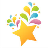 Colorful star background Stock Photo