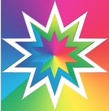 Colorful Star background Royalty Free Stock Photography