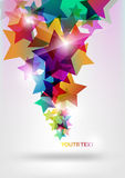 Colorful star banner. Abstract colored background of geometric shapes royalty free illustration