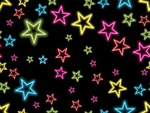 Colorful star on black background Stock Photo
