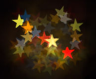Colorful Star Bokeh Royalty Free Stock Photo