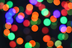 Colorful Star bokeh blurred abstract background. Christmas and new year party concept. Royalty Free Stock Image