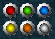 Colorful star buttons Royalty Free Stock Photo