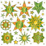 Colorful star collection Stock Photography