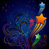 colorful star design element Royalty Free Stock Photography