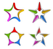 Colorful star design elements Stock Photos