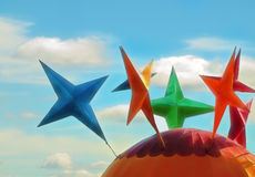 Colorful star designs Royalty Free Stock Photography