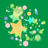 Colorful star on green background Royalty Free Stock Photos