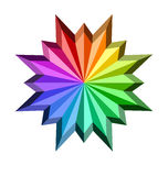 Colorful star icon Stock Photos