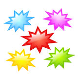 Colorful star icon. Colorful stars icons set vector illustration Stock Images