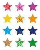 12 colorful star icons, star isolated on white background. vector format available. 12 colorful star icons, star isolated on white background. vector esp 10 Stock Photo