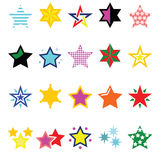 Colorful star icons isolated on white Royalty Free Stock Image