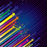 Colorful star illustration Royalty Free Stock Photography