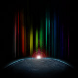 Colorful Star Lights Stock Images