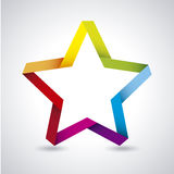 Colorful star Stock Photography