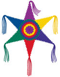 Colorful Star Pinata. A very colorful, traditional six point star pinata Stock Image