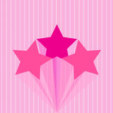 Colorful star pink Royalty Free Stock Images