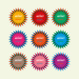Colorful star seals vintage. Abstract design set Royalty Free Stock Image