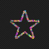 Colorful star shape Royalty Free Stock Image