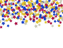 Colorful star shape sequins background Stock Photography