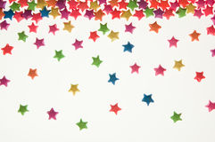 Colorful of Star sort scatter Royalty Free Stock Photos