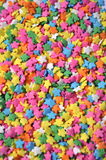 Colorful Star Sprinkles. This is a photo of colorful star sprinkles that would be on a cupcake, cake, or ice cream Royalty Free Stock Photo