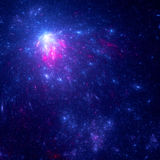 Colorful star systems in deep blue space Stock Photography