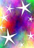 Colorful star universe Royalty Free Stock Photos