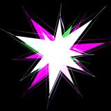 Multicolored star on a black background Stock Photo