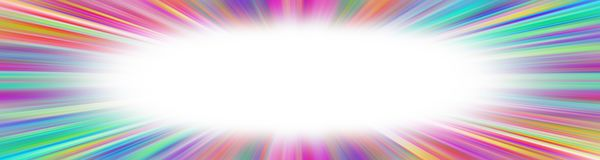 Colorful starburst banner stock photo