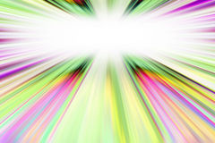 Colorful starburst border Stock Photography