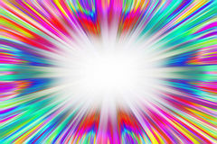 Colorful starburst explosion Royalty Free Stock Image