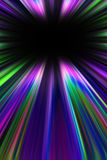 Colorful starburst light trails Royalty Free Stock Photos
