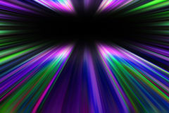 Colorful starburst light trails Royalty Free Stock Image